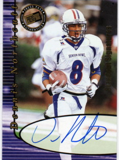 2000 Press Pass Autographs Gold Standout Signatures #33 Dennis Northcutt
