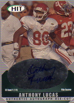 2000 SAGE HIT Autographs Emerald Die Cuts #8 Anthony Lucas