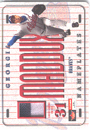 2001 Fleer Platinum Nameplates #17 Greg Maddux/180