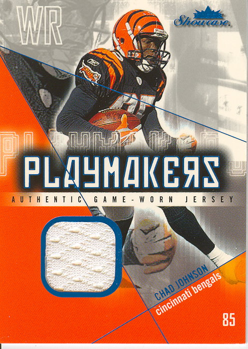 2004 Fleer Showcase Playmakers Game Used #CJ4 Chad Johnson/10