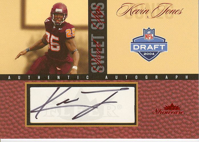 2004 Fleer Showcase Sweet Sigs Red #KJ Kevin Jones/16