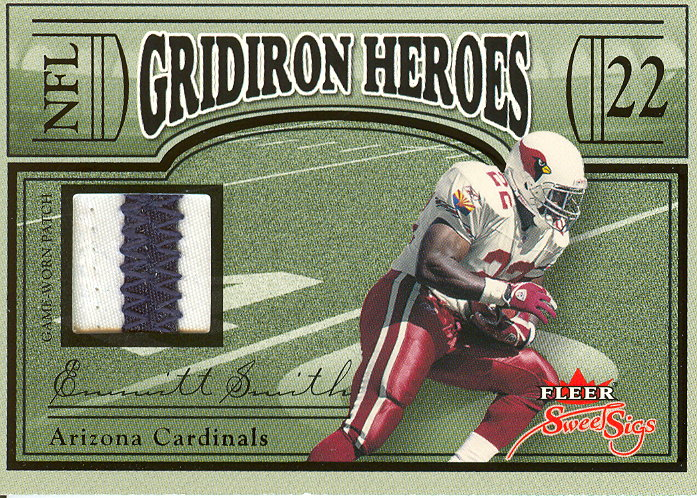 2004 Fleer Sweet Sigs Gridiron Heroes Jersey Patches Black #ES Emmitt Smith/22