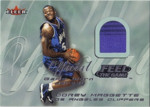 2000-01 Fleer Feel the Game #17 Corey Maggette