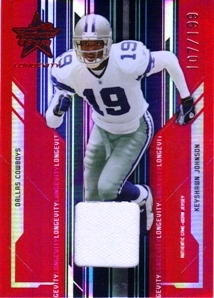 2005 Leaf Rookies and Stars Longevity Materials Ruby #26 Keyshawn Johnson/199