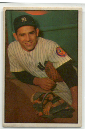 1953 Bowman Color #121 Yogi Berra
