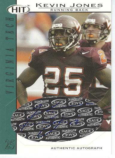 2004 SAGE HIT Autographs Emerald #A25 Kevin Jones