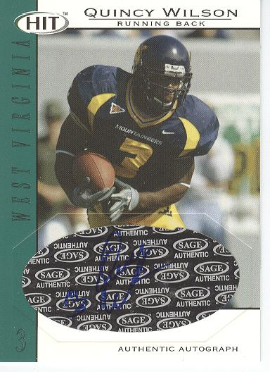 2004 SAGE HIT Autographs Emerald #A43 Quincy Wilson