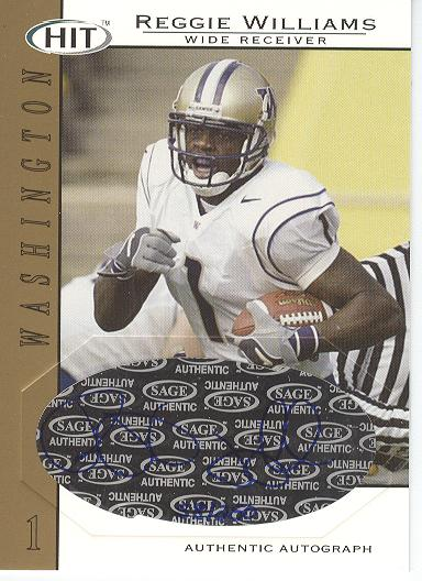 2004 SAGE HIT Autographs Gold #A1 Reggie Williams