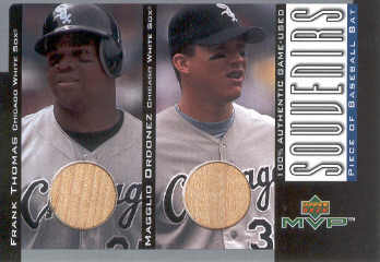 2001 Upper Deck MVP Game Souvenirs Bat Duos #BTO Frank Thomas/Magglio Ordonez