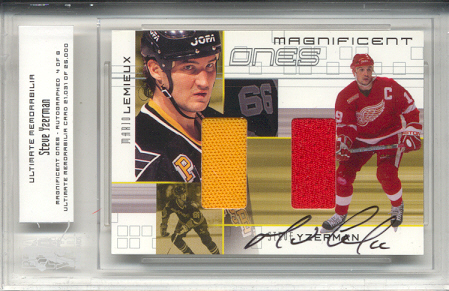 2000-01 BAP Ultimate Memorabilia Magnificent Ones Autographed #ML1 Steve Yzerman/Mario Lemieux