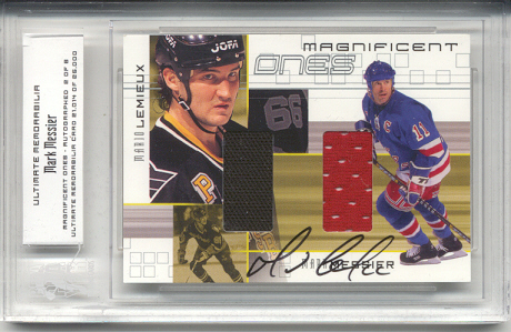 2000-01 BAP Ultimate Memorabilia Magnificent Ones Autographed #ML4 Mark Messier/Mario Lemieux