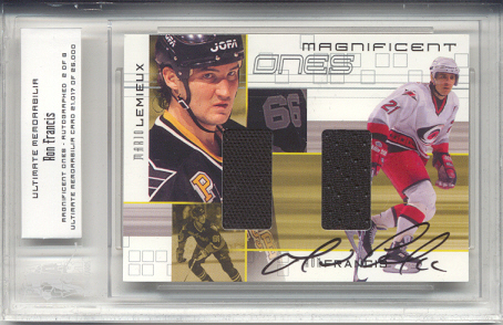 2000-01 BAP Ultimate Memorabilia Magnificent Ones Autographed #ML7 Ron Francis/Mario Lemieux