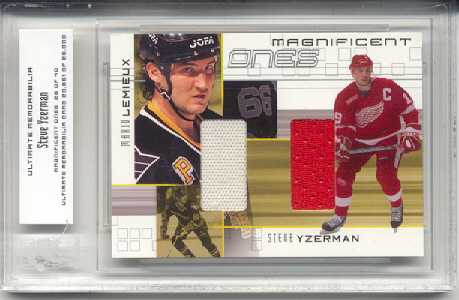 2000-01 BAP Ultimate Memorabilia Magnificent Ones #ML1 Steve Yzerman/Mario Lemieux