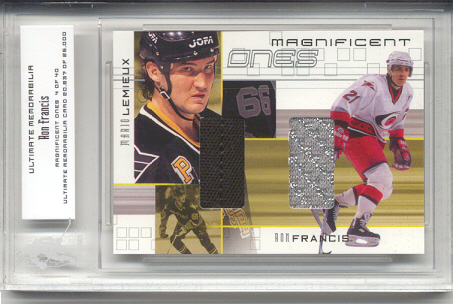 2000-01 BAP Ultimate Memorabilia Magnificent Ones #ML7 Ron Francis/Mario Lemieux