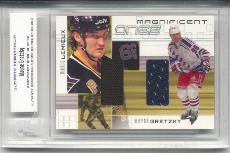 2000-01 BAP Ultimate Memorabilia Magnificent Ones #ML9 Wayne Gretzky/Mario Lemieux