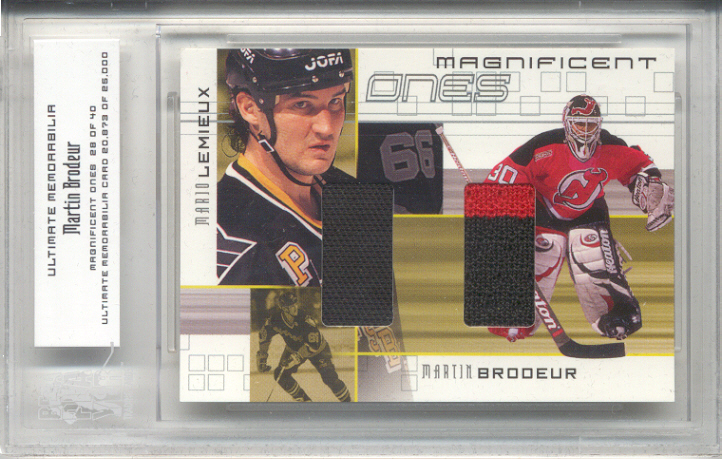2000-01 BAP Ultimate Memorabilia Magnificent Ones #ML3 Martin Brodeur/Mario Lemieux