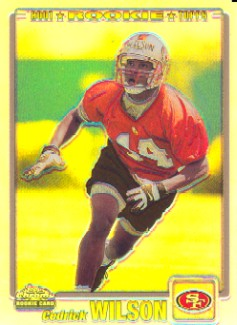 2001 Topps Chrome Refractors #246 Cedrick Wilson