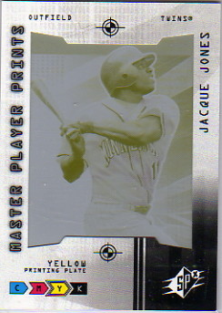 2004 SPx Master Player Prints Yellow #37 Jacque Jones