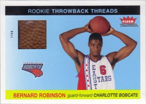 2004-05 Fleer Tradition Rookie Throwback Threads Ball #23 Bernard Robinson