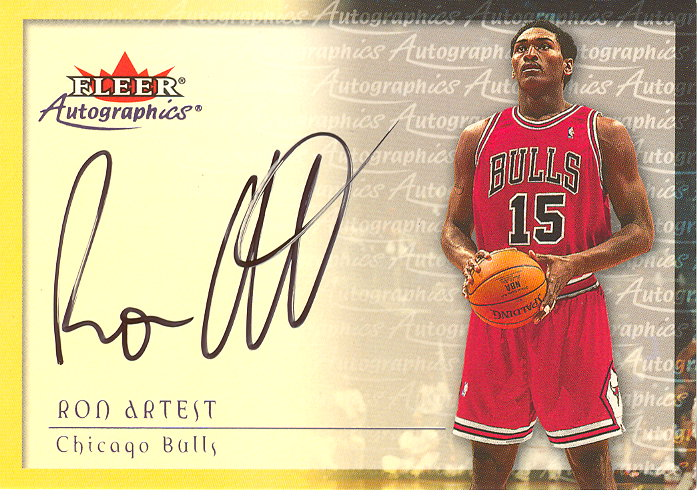 2000-01 Fleer Autographics #2 Ron Artest