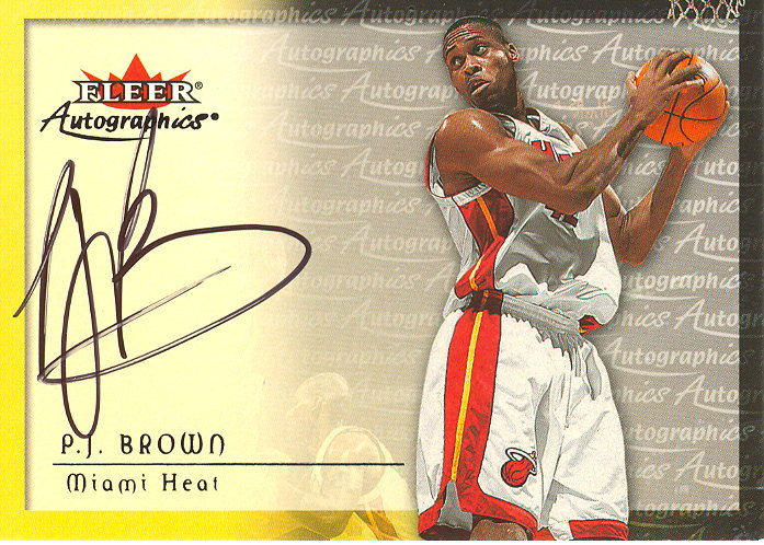 2000-01 Fleer Autographics #7 P.J. Brown