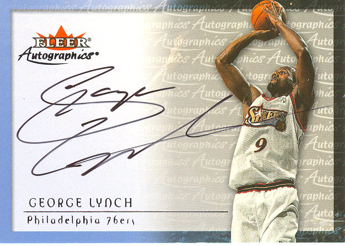 2000-01 Fleer Autographics #32 George Lynch