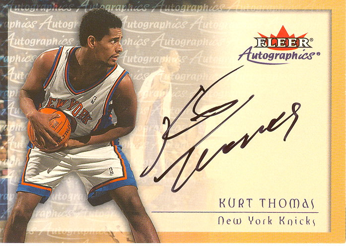 2000-01 Fleer Autographics #55 Kurt Thomas
