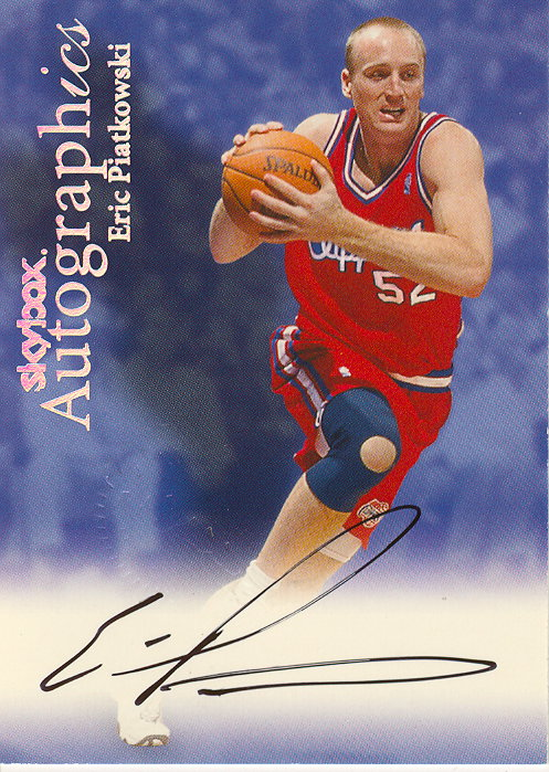 1999-00 SkyBox Premium Autographics #85 Eric Piatkowski