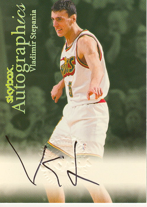 1999-00 SkyBox Premium Autographics #101 Vladimir Stepania