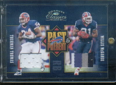 2005 Donruss Classics Past and Present Jerseys Prime #2 Thurman Thomas/Willis McGahee
