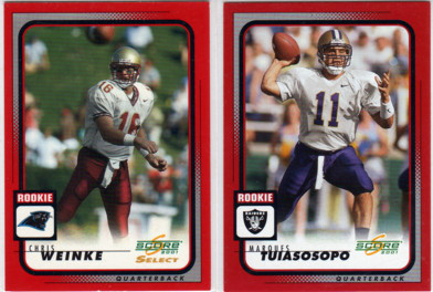 2001 Score #279 Marques Tuiasosopo RC