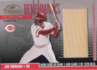2001 Donruss Classics Benchmarks #BM22 Joe Morgan