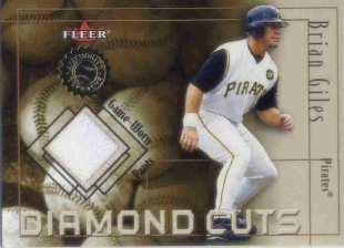2001 Fleer Authority Diamond Cuts Memorabilia #24 Brian Giles Pants/800