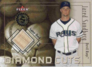 2001 Fleer Authority Diamond Cuts Memorabilia #92 Jared Sandberg Bat/800