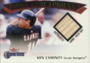 2001 Fleer Game Time Lumber #6 Ken Caminiti