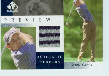 2001 SP Authentic Preview Authentic Threads #SGAT Sergio Garcia
