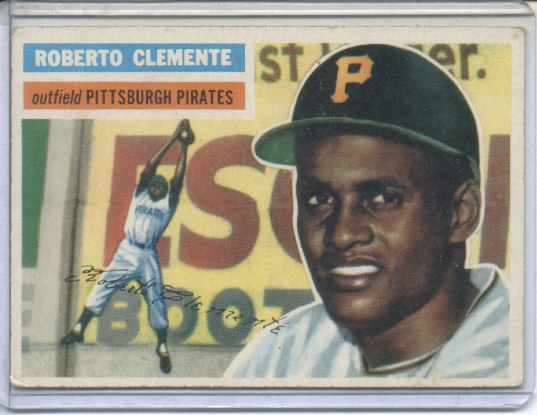 1956 Topps #33 Roberto Clemente front image
