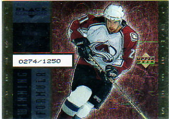 1998-99 Black Diamond Winning Formula Gold #WF7 Peter Forsberg/1250