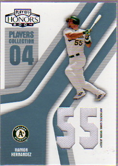 2004 Playoff Honors Players Collection Jersey Platinum Number #73 Ramon Hernandez