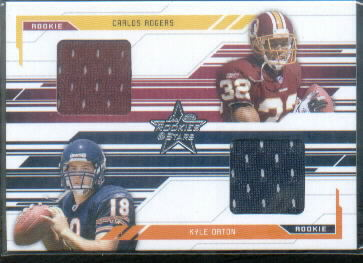2005 Leaf Rookies and Stars #287 Carlos Rogers Jsy/Kyle Orton Jsy