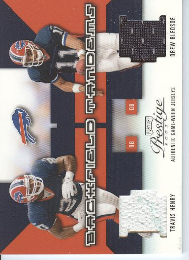 2003 Playoff Prestige Backfield Tandems #BT2 Drew Bledsoe/Travis Henry