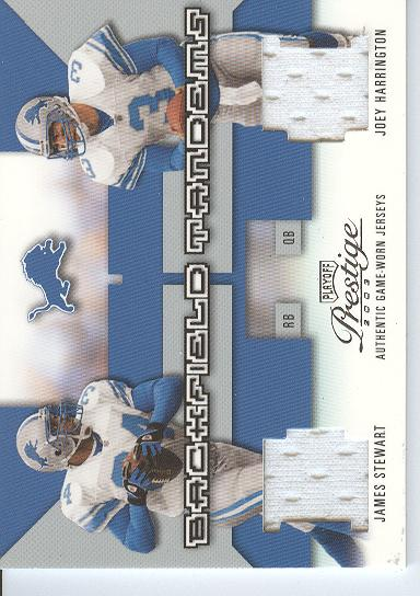 2003 Playoff Prestige Backfield Tandems #BT6 James Stewart/Joey Harrington