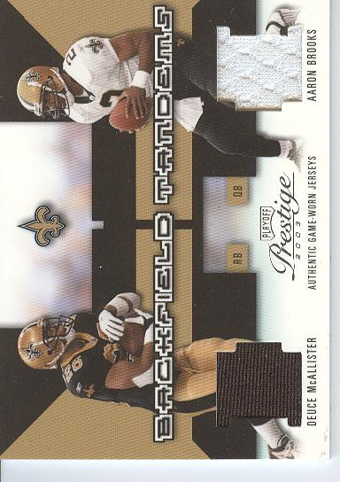 2003 Playoff Prestige Backfield Tandems #BT13 Aaron Brooks/Deuce McAllister