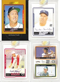 2005 Topps Retired Baseball Signature Edition Blister Pack (1 Uncirculated Autograph, 1 Serial #ed Parallel Card & 3 retired player cards in Every Pack)