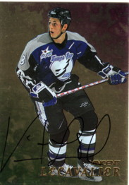 1998-99 Be A Player Autographs Gold #279 Vincent Lecavalier