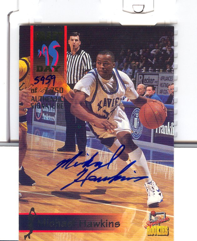 1995 Signature Rookies Draft Day Signatures #39 Michael Hawkins