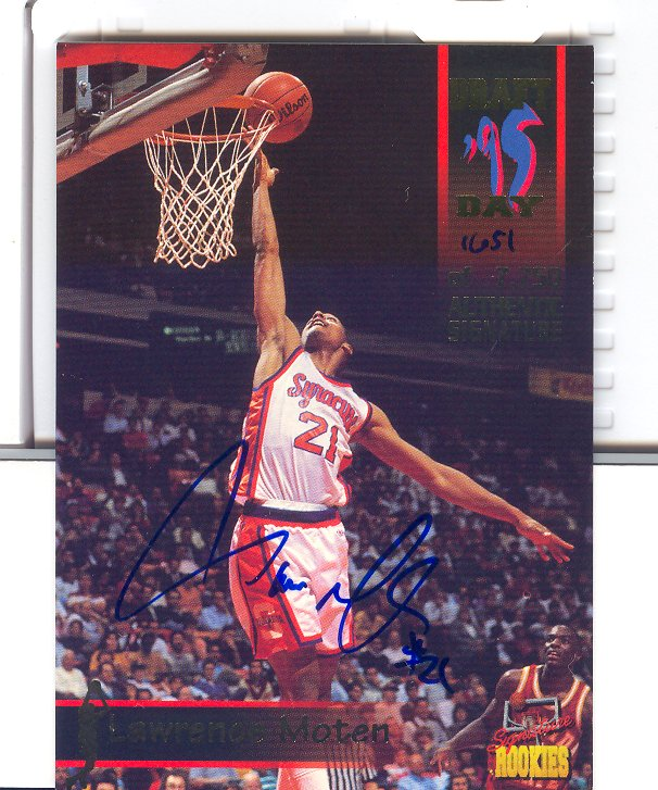 1995 Signature Rookies Draft Day Signatures #45 Lawrence Moten