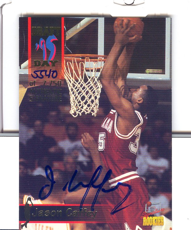 1995 Signature Rookies Draft Day Signatures #43 Jason Caffey