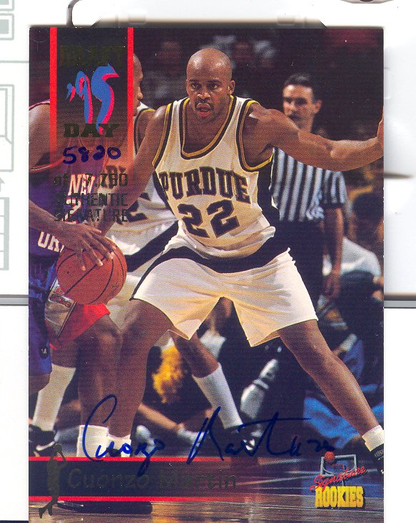 1995 Signature Rookies Draft Day Signatures #42 Cuonzo Martin