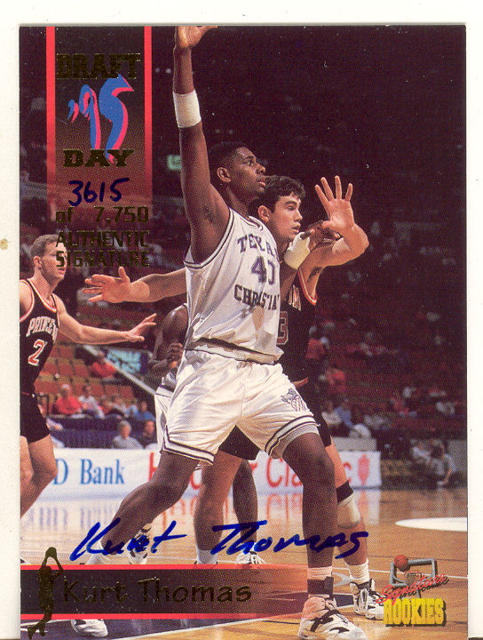 1995 Signature Rookies Draft Day Signatures #36 Kurt Thomas